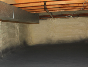 crawl space spray insulation for North Carolina